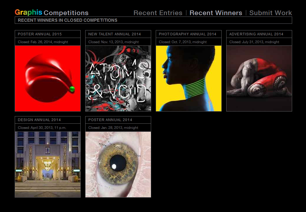 Graphis Recent winners- ramon vaquero
