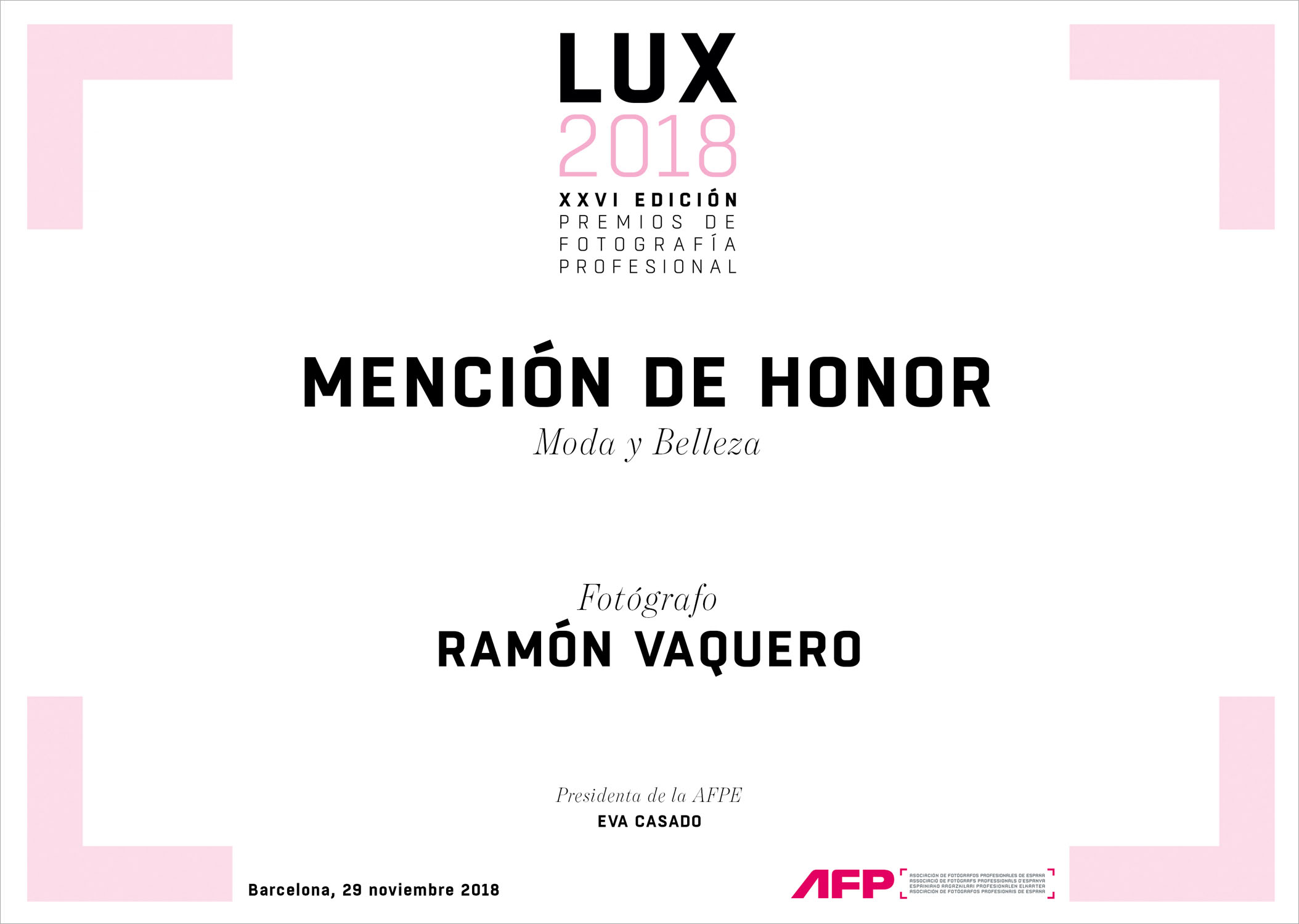Honor mention AFPE 2018_Ramón Vaquero