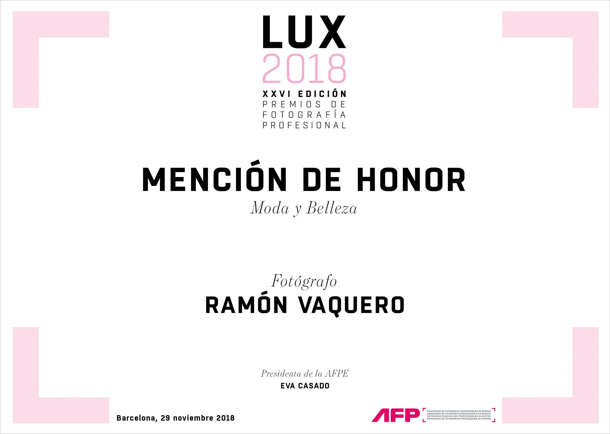 mencion Honor AFPE 2018_Ramón Vaquero